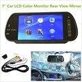 7 polegada MP5 Color TFT LCD Carro Espelho Retrovisor Monitor de Auto Veículo Estacionamento Monitor Retrovisor SD USB para a Câmera Reversa