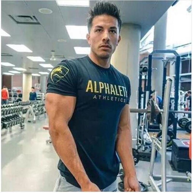 Mens Brand gyms t shirt Fitness Bodybuilding Crossfit Slim Cotton Shirts Men Short Sleeve workout male Casual Tees Tops clothing