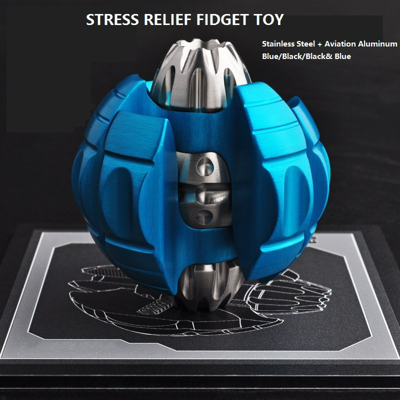 2018 Rushed Stress Cube Metal Push For Egg Edc Colorful Turtle Adult Portable Decompression Toys Fidget Top Spinner Unzipping