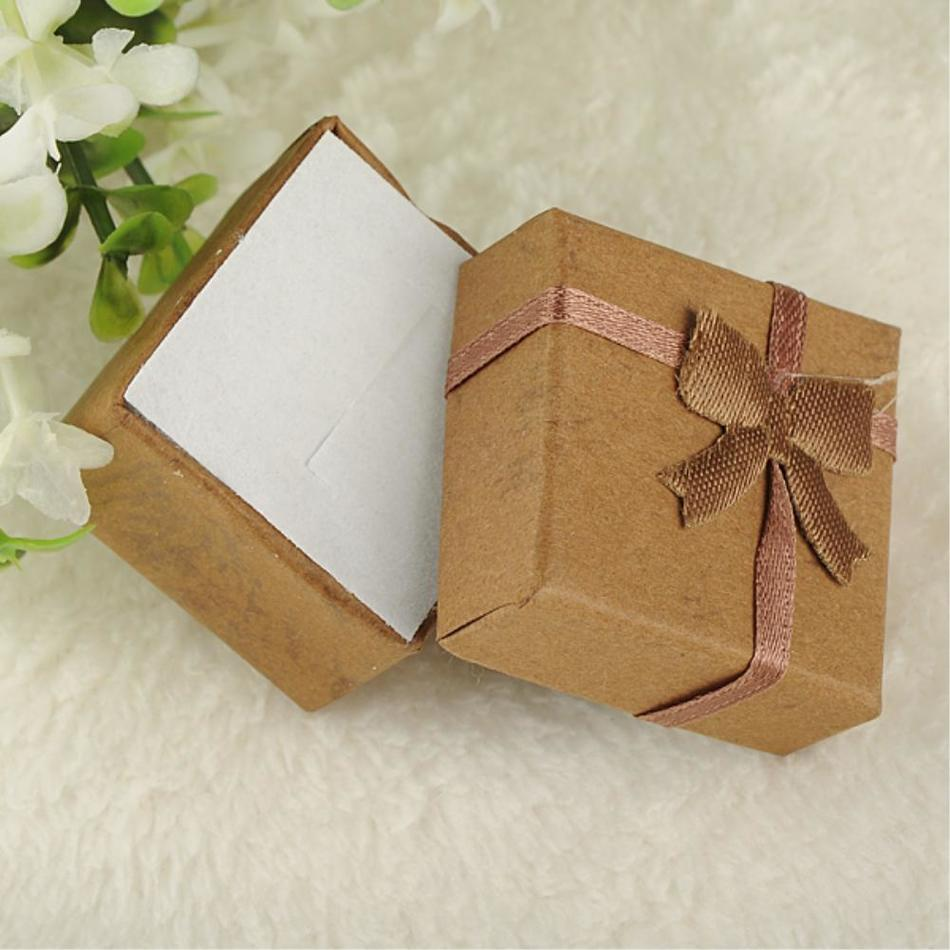Sale Mixcolors Cardboard Jewelry Set Boxes for Necklace Earring Ring Rectangle Jewellery Jewelry box cases Display 4*4*3cm
