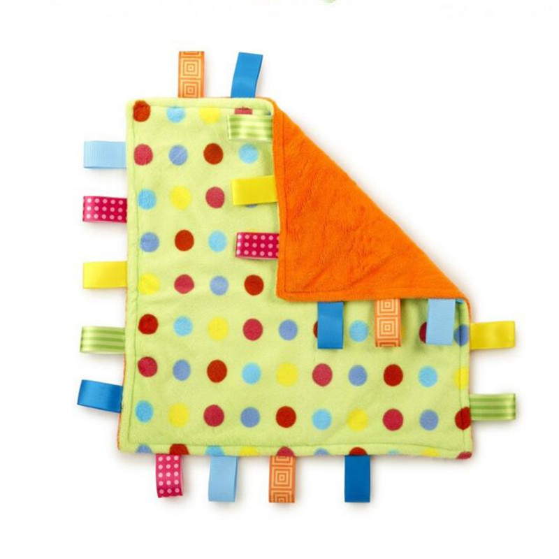 Hot Selling Ultra Soft Taggies Multicolour Label Baby Appease The Towel Cloth Toy Placarders