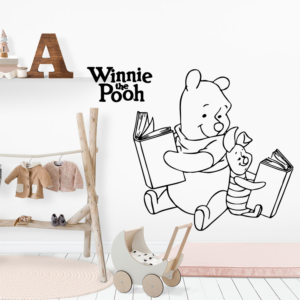 Winnie The Pooh BOOK Wall Art Decal Sticker Fashion Wallpaper For  Room Kids