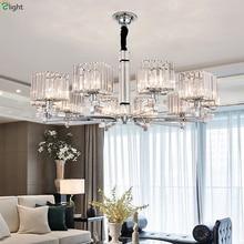 Современные светодио дный светодиодные люстры освещение хром металл гостиная светодио дный LED подвесная люстра огни Стекло Столовая подвесные светильники