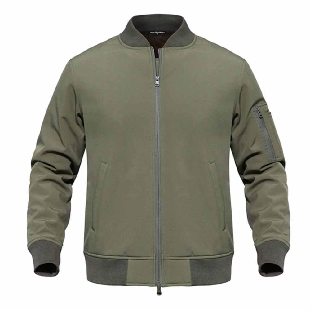 男性フリースハイキングキャンプジャケット抗ピリングボンバージャケットユニセックス屋外の戦術的なジャケット高品質秋の冬のコートの男