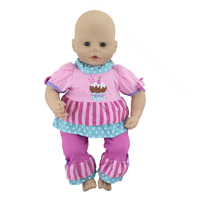 New Suit For 46cm Baby Annabell Doll 18 Inch Dolls Clothes And Accessosries