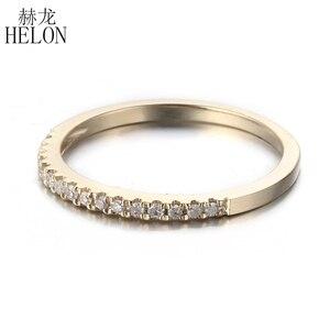 Image 3 - Женское кольцо с бриллиантами HELON Pave, розовое золото 10 к