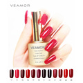 VEAMOR UV Gel Nail Polish Nail Gel Soak Off Resin UV Led Nail Gel Polish 12 Fashion Red Nude Colors
