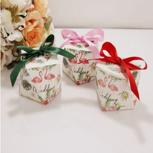 50pcs/lot Small Polygon Knot Candy Box Craft Paper Wedding Favor Party Gifts Supplies