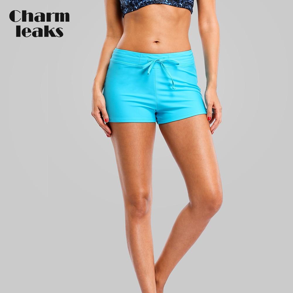 Charmleaks Swim Trunks Women Bikini Bottom Ban Solid Color Swimwear Briefs Swimwear Split Bandage Swimming Trunks
