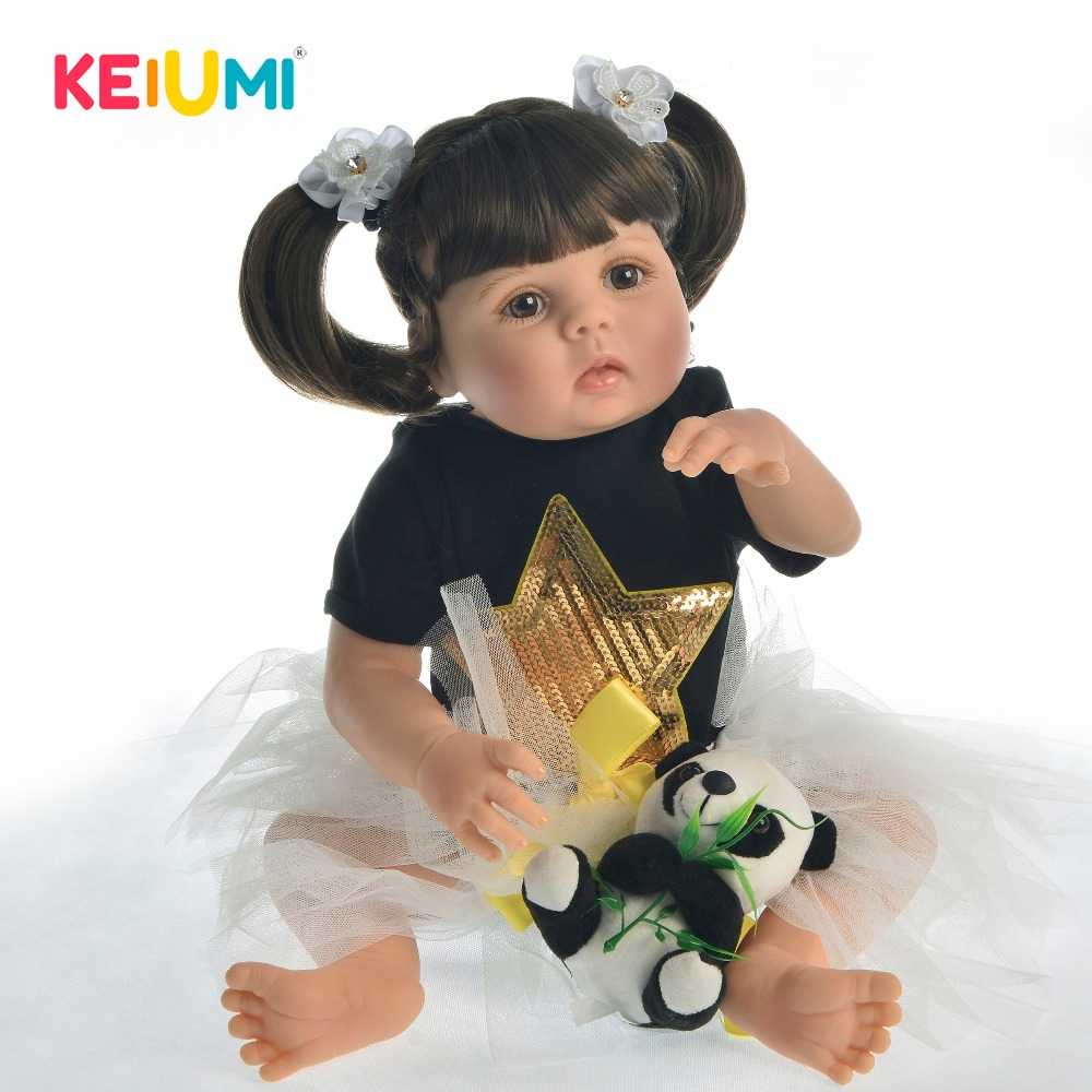 Tailored DIY Reborn Baby Girl Full Silicone Body Dolls 23 Reborn Baby Toy Adorable Vinyl Doll
