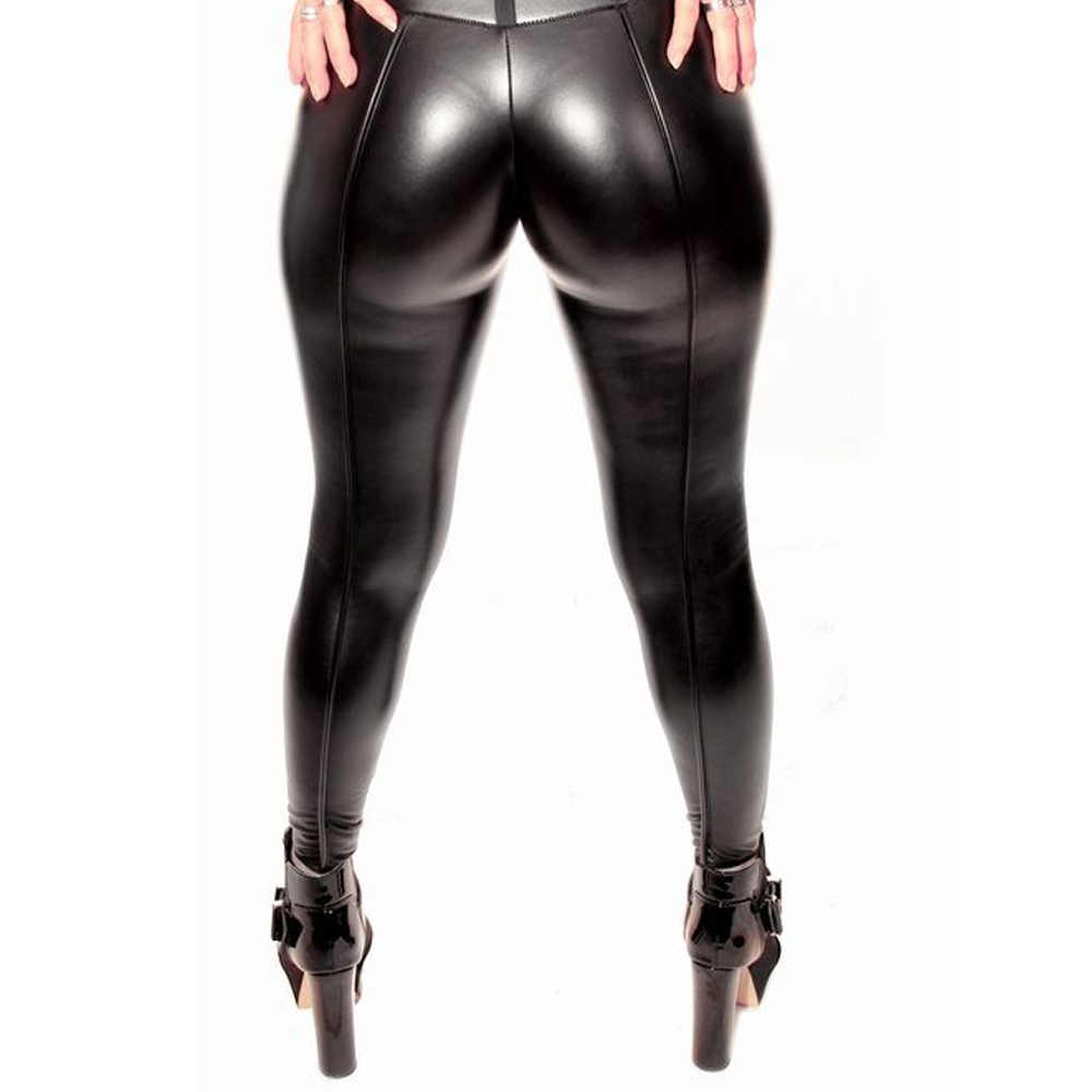 70c914bb539496 ... 2018 Autumn Winter Women Sexy Black PU leather Leggings Booty Leggings  Push Up Faux Leather Pants ...