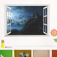 Harry Potter 3D Wall Stickers Magic School Hogwarts Home Decoration Posters For Baby Bedroom Self Adhesive