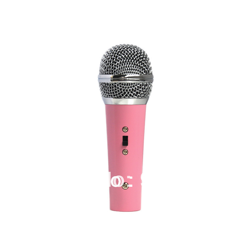 eba9c9477c909 Popular Vintage Toddler microphone Lovely Pink Mini kid singing microphone  Studio Speech Mic for Kids free shipping-in Microphones from Consumer  Electronics ...