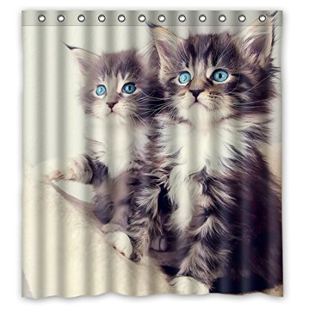 Bathroom Shower Curtains Unique Cute Cat Funny 180x180cm Eco Friendly Waterproof Fabric Curtain In From Home Garden On