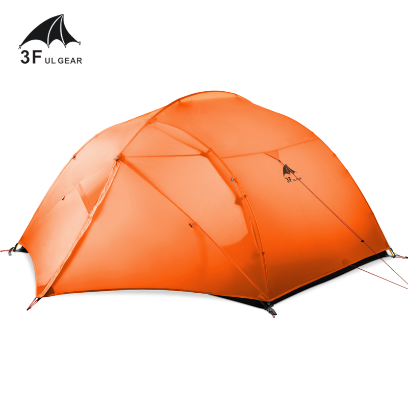 3F UL GEAR 3 Person 4 Season 15D Camping Tent Outdoor Ultralight Hiking Backpacking Hunting Waterproof Tents Waterproof Coating high quality outdoor 2 person camping tent double layer aluminum rod ultralight tent with snow skirt oneroad windsnow 2 plus