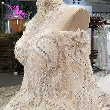 AIJINGYU חתונה שמלות הודו Slim שמלות נשי באינטרנט ארוך רכבת שמלת פרל שמלת רצפת אורך