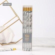 Never marble серия 10 шт. Hb набор карандашей с ластиком карандаши для школьников Тест Ручка для письма подарок канцелярские товары офисные принадлежности