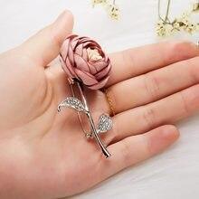 Acessórios bonitos jewely da forma da flor da tela do emblema do broche do pino da flor feita à mão quente na festa, casamento
