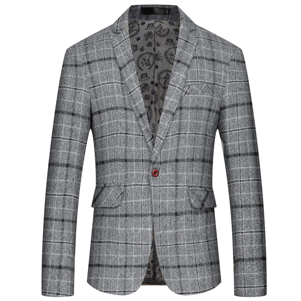 Domple Men Casual Autumn Striped Flap Pockets Button Up Denim Trucker Jackets