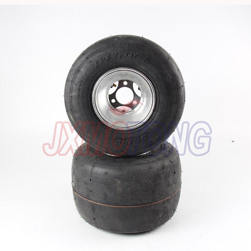 168 Go kart 5 pouces roues arrière pour accessoires de voiture de plage dérive vélo roue 11X7. 10-5 kart pneu ATV Quad