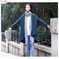 no buttons plus size cardigans linen coat fine quality casual just wearing long T-shirts modern daily sun-protection tops
