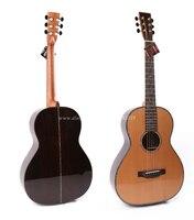 Профессиональные 38 дюймов акустической Гитары, с твердой кедр top/из палисандра Средства ухода за кожей, гитары s Китай с футляр, блеск, с виде