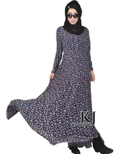 Fashion Muslim Dress Abaya In Dubai Traditional Islamic Clothing For Women Muslim Abaya Jilbab Djellaba Peach Blossom Print 5xl