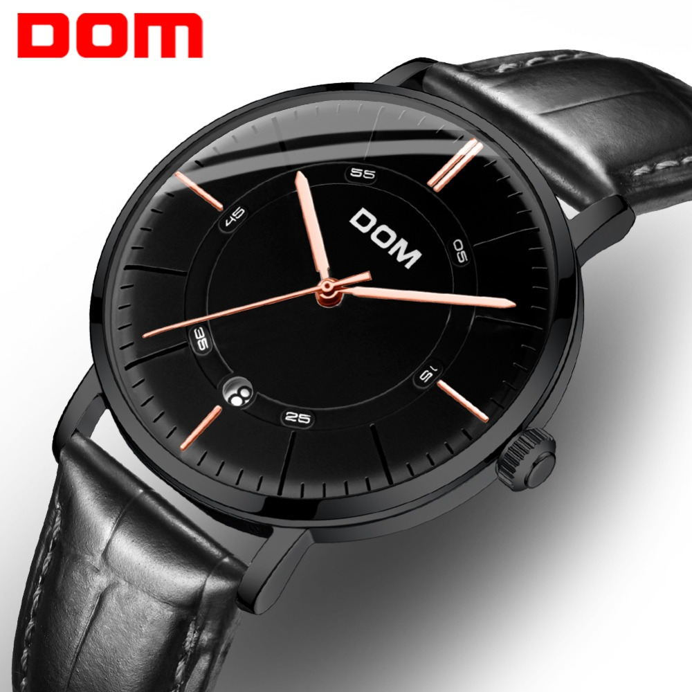 DOM Top Luxury Brand Watch Men Automatic Self-wind Genuine Leather 30M Waterproof Business Men Wrist Watch Reloj Hombre M-8106DOM Top Luxury Brand Watch Men Automatic Self-wind Genuine Leather 30M Waterproof Business Men Wrist Watch Reloj Hombre M-8106