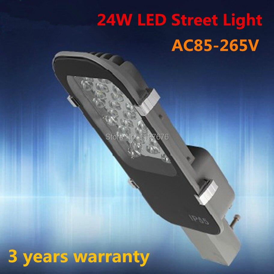 Free shipping AC85-265V 24W LED street lights 3 years warranty high quality 24*1W LED STREET LIGHT цена и фото