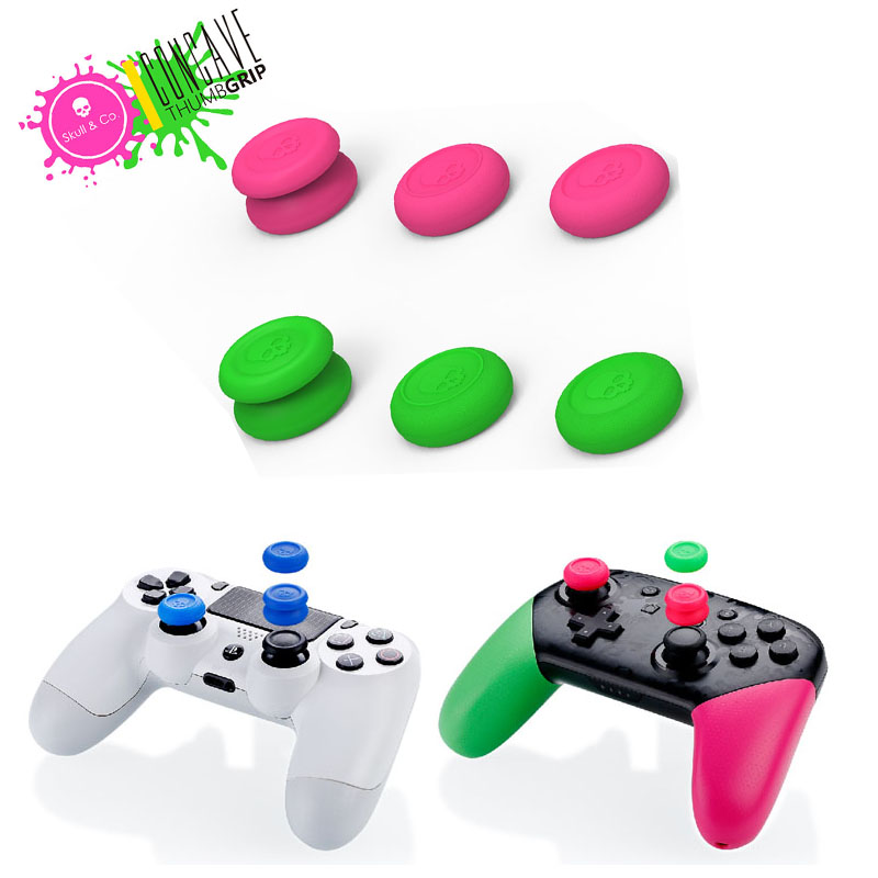 Skull & Co. Skin CQC FPS 6 In 1 Thumb Grip Set Joystick Cap Thumbstick Cover For PS4 Nintend Switch NS Pro Controller