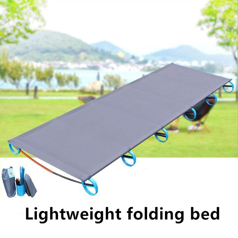 2017 Portable Folding Movable Outdoor Camping Bed Super Light Easy Install  Military Folding Bed For Camping Hiking Traveling outdoor folding bed 200kg bearing super light bed easy install portable folding movable good experience outdoor camp hike bed