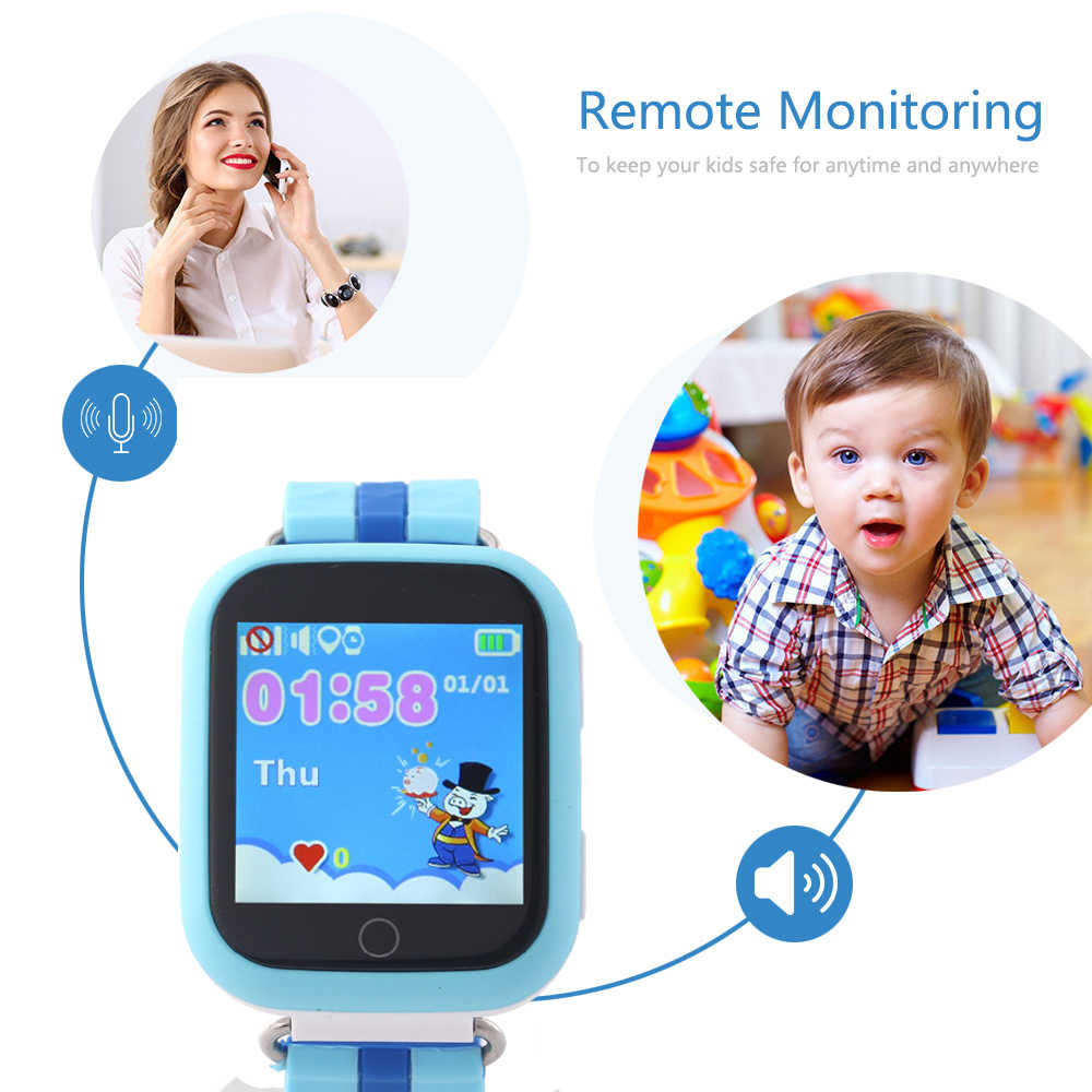 Q100 gps smart watch for kids with Wifi touch sim card Q750 SOS Call Location Tracker for children Anti-Lost Monitor pk q50 q90