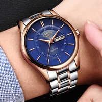 LIGE hommes bracelet de montre Sport Quartz montre-bracelet étanche antichoc bande en acier noir armée mâle montres horloge Relogio Masculino