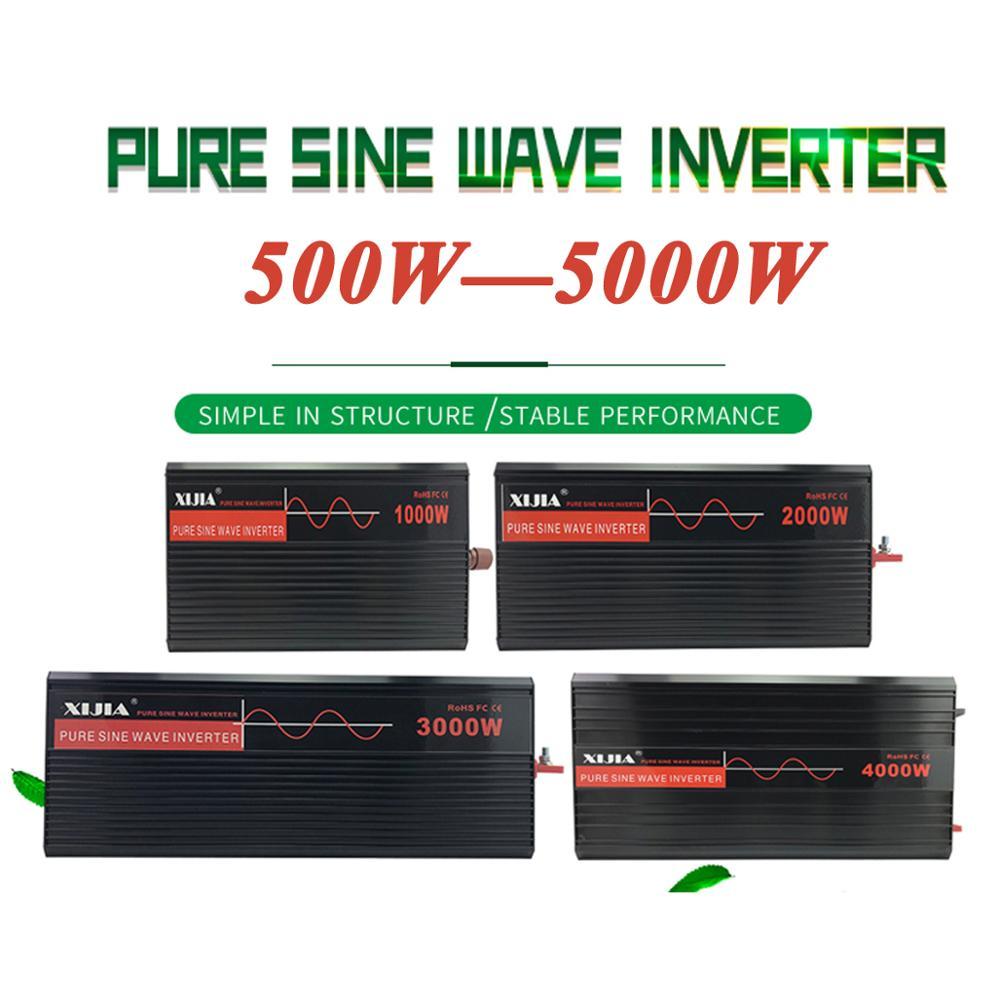 Inversor de onda senoidal pura potência do inversor DC12V/24 V/48 V/60 V/72 V para AC 110 V/120 V/220 V/230 V/240 V conversor ferramenta Para Casa/ barco/Solar