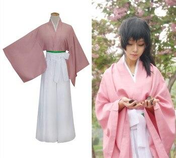 450f16f92eae0 Япония Hakuouki Yukimura jiziru костюмы женщины Японии розовое платье-кимоно  Канако кимоно платье для костюмированной вечеринки