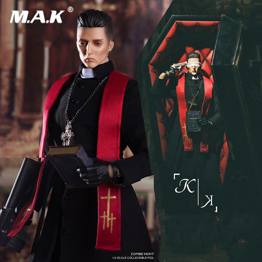 With The Coffin YZBR0001 1/6 Father K K.PRIEST Collection Action Figure Model With Box Children Collections