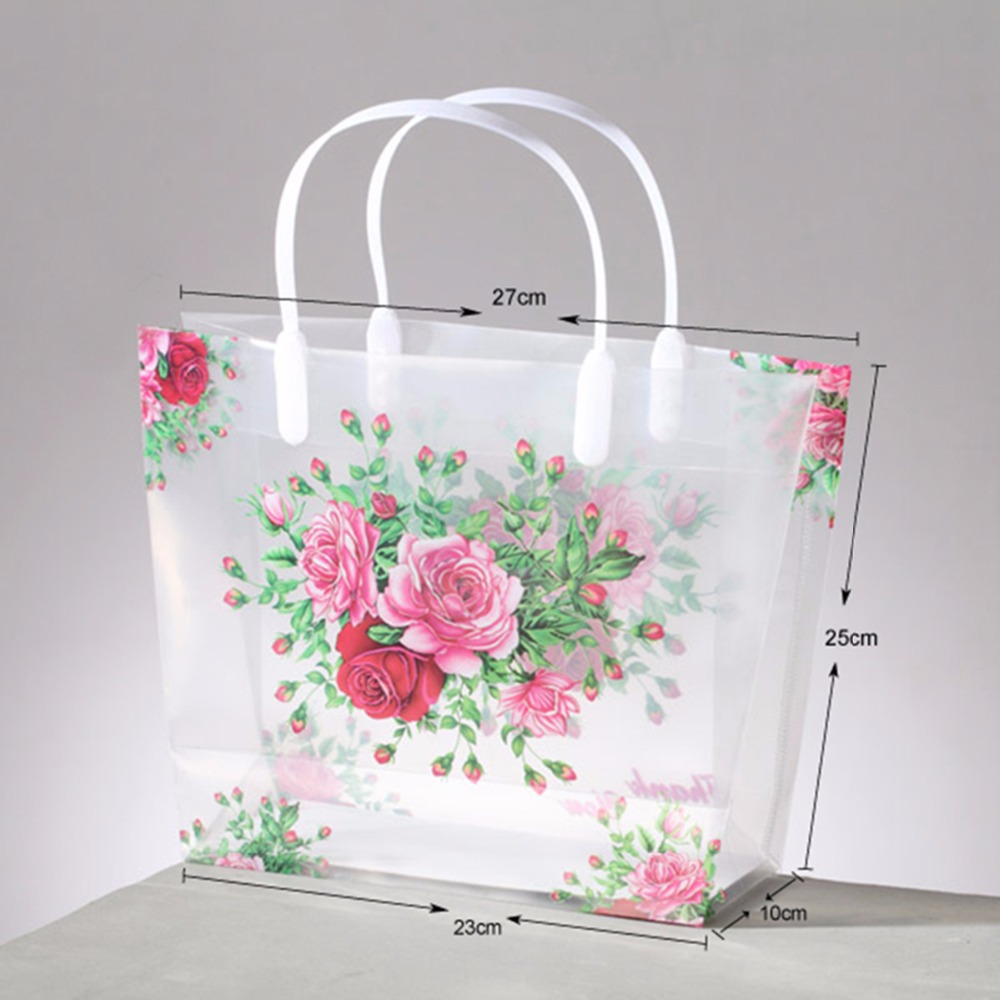 (100pcs/lot) small PVC gift shopping bag