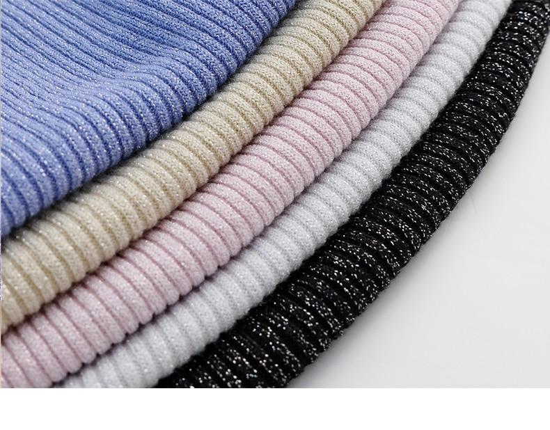 Shiny Lurex Autumn Winter Sweater Women Long Sleeve Pullover Women Basic Sweaters Turtleneck 19 Korean Style Knit Tops Femme 5