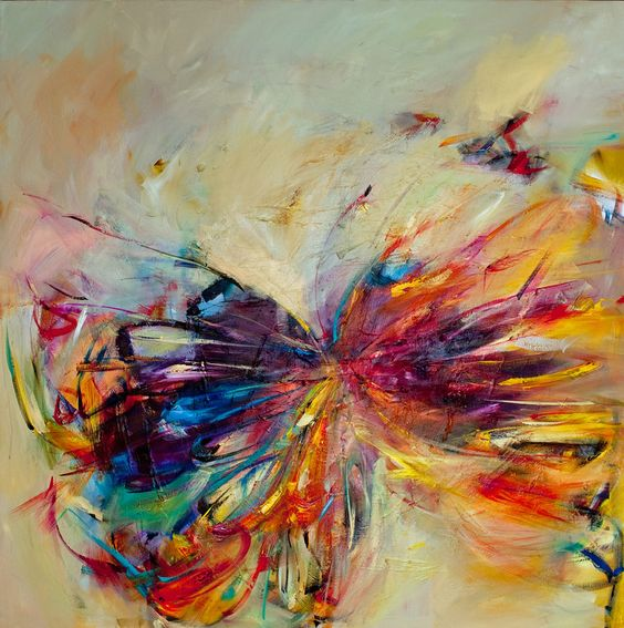 Hand Painted Abstract Animal Oil Painting Pictures On Canvas Wall ...