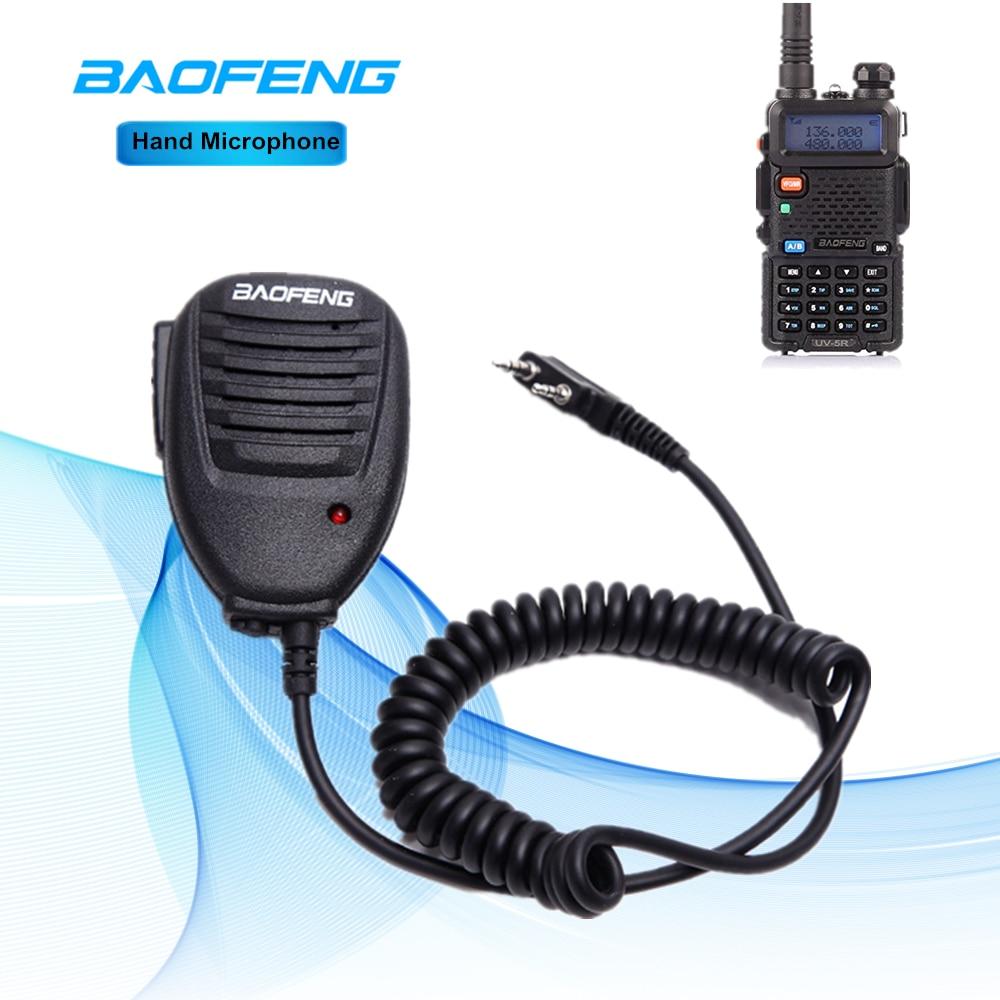 Baofeng Hand Mikrofon Walkie Talkie MIC Lautsprecher Schulter Mikrofon Für Kenwood TYT Pofung Handheld UV-5R BF-888s Zubehör