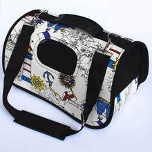 New Arrival Pet Carrier Bag Dog Travel Bag for Dogs/Cat Casual Canvas Dog Handbag Pet Air Handbag Single Shoulder Pet Backpack