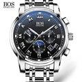 Angela bos sub dial trabajo luminoso impermeable relojes para hombre de primeras marcas de lujo 2016 de los hombres relojes de cuarzo reloj de pulsera relojes para los hombres