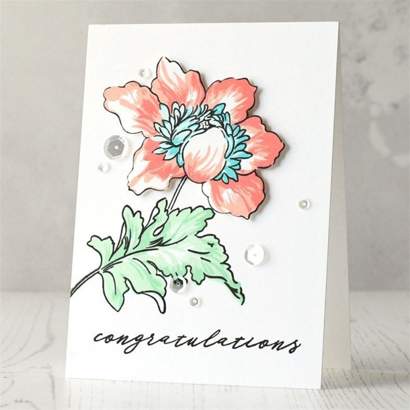 Full of Peony Flowers Metal Cutting Dies and Clear Stamps Scrapbooking New 2019 Die Cuts for Card Making Fustelle Craft Dies in Cutting Dies from Home Garden