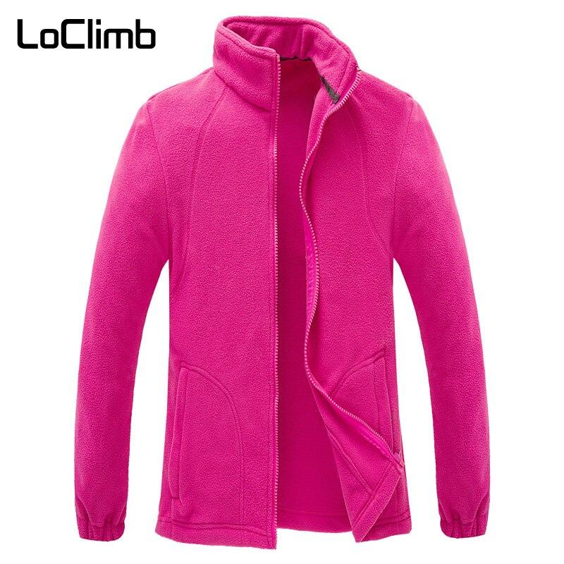 LoClimb Women's Polar Fleece Jacket Women Winter Camping Tourism Sports Coats Outdoor Climbing Trekking Ski Hiking Jackets AW093