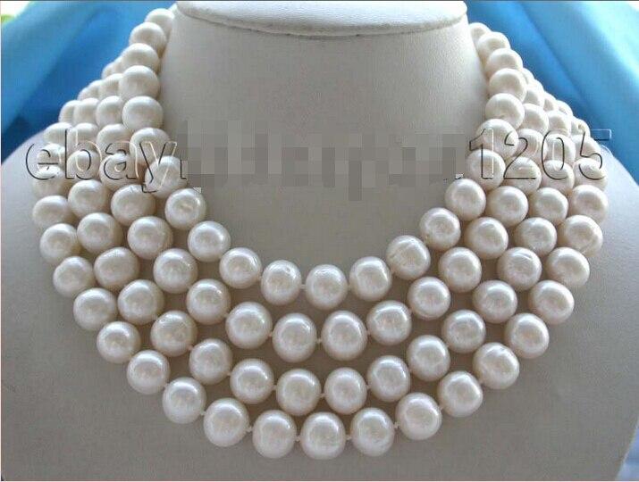Бесплатная shippinglongest 70 из натуральной 12 мм rould белый жемчуг Цепочки и ожерелья!