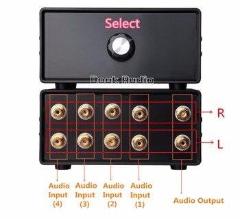 Séparateur Audio RCA | 2017 Dernière Douk Audio Passif Stéréo 4-en-1-OUT RCA Séparateur Audio/sélecteur De Commutation Bricolage Livraison Gratuite