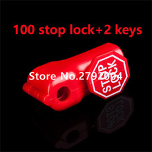 100pcs/lot Popular Selling Magnetic EAS Display Security Hook Stop lock for anti-theft+2pcs stoplock magnetic detacher key