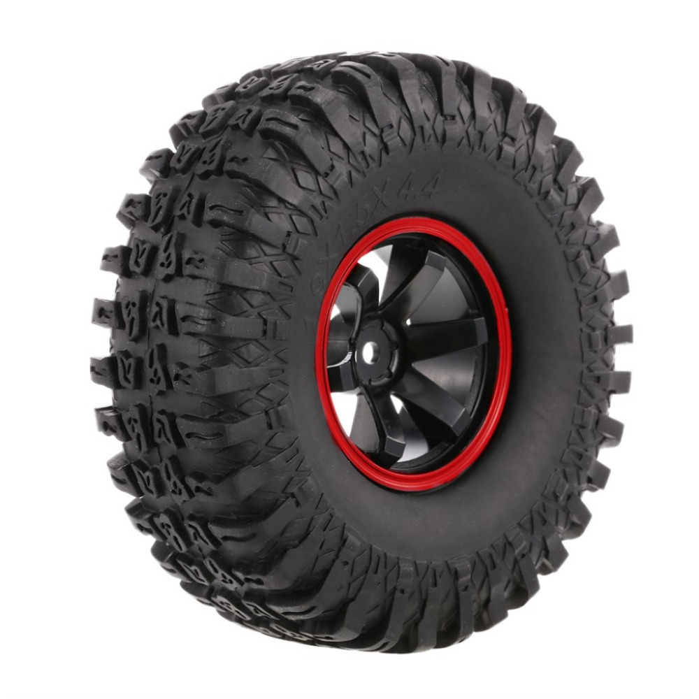 4PCS 118MM 1.9 Rubber Rocks Tyres Wheel Tires for 1:10 RC Rock Crawler Axial SCX10 90047 RC4WD D90 D110 TF2 Traxxas TRX-4 4pcs rc crawler 1 10 wheel rims beadlock alloy 1 9 metal rims rock crawler wheel hub parts for rc car traxxas rc4wd scx10 cc01