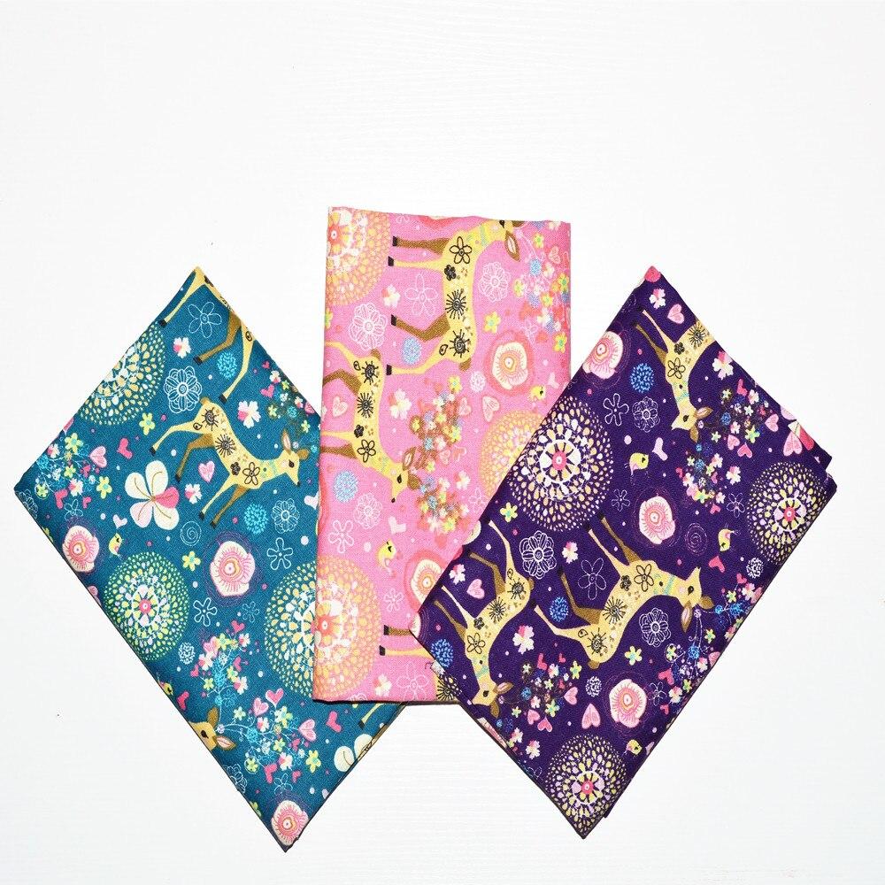 3 pz / lotto 45x70 cm renna di natale cotone / tessuto di lino cucito - Arti, mestieri e cucito