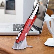 2,4 ГГц ноутбук мини оптическая мышь для ПК ручка обучение Компьютерные аксессуары USB Презентация беспроводной рисунок емкостный стилус